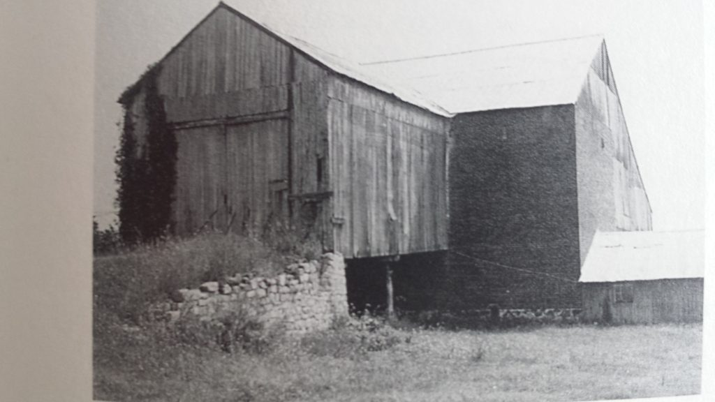 The original three story, brick hill barn
